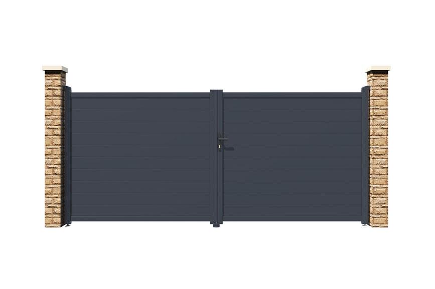 portail alu battant 4m eiger 400b180  casanoov